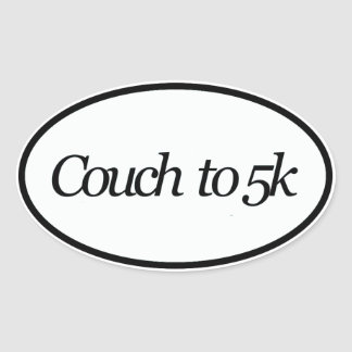 couch 5k oval sticker