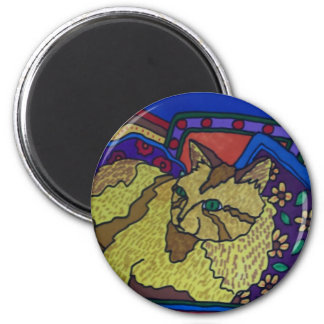 Couch Cat 4 by Piliero Refrigerator Magnet