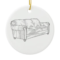 Couch Ceramic Ornament