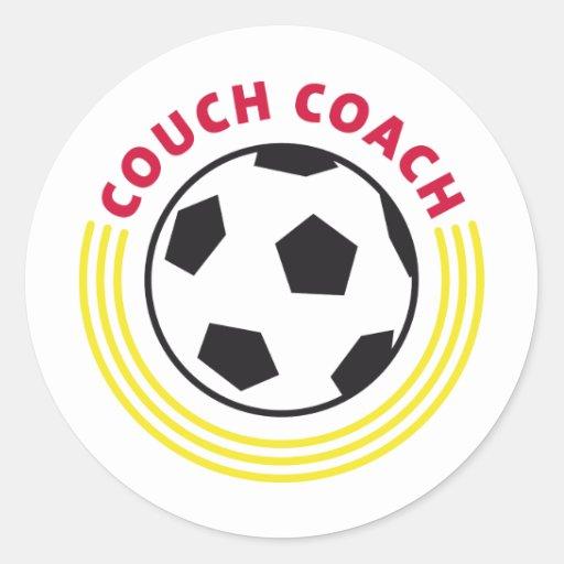couch coach runder aufkleber