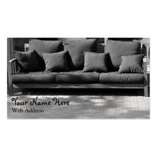 Couch on Street Business Card Black and White