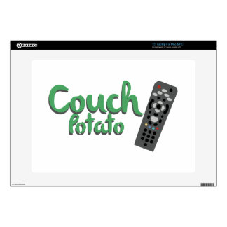 """Couch Potato 15"""" Laptop Decal"""