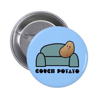 Couch Potato 2 Inch Round Button