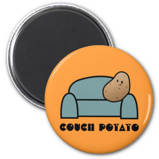 Couch Potato 2 Inch Round Magnet