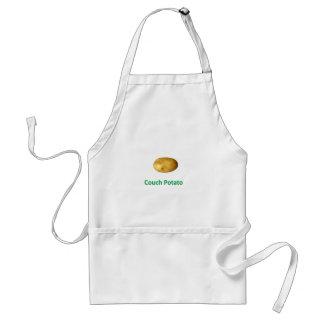 couch potato adult apron