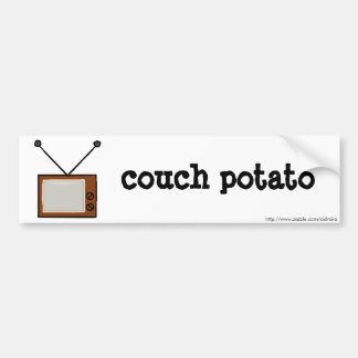 Couch Potato Bumper Sticker