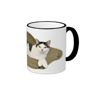 Couch potato cat cup coffee mugs