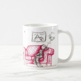 couch potato classic white coffee mug