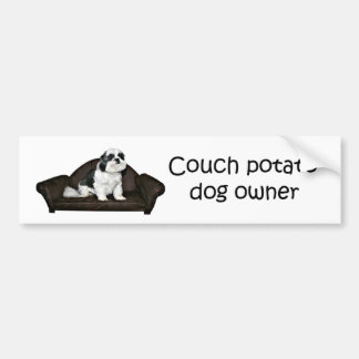 Couch potato dog bumper sticker