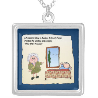Couch Potato Funny Humorous Maw Necklace