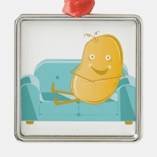Couch Potato Metal Ornament