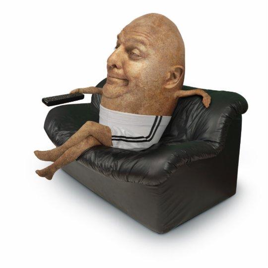 Couch Potato Paper Sculpture