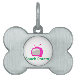 couch potato pet ID tag