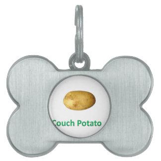 couch potato pet tag