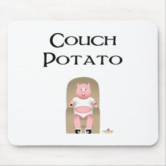 Couch Potato Pig Couch Potato Mouse Pad