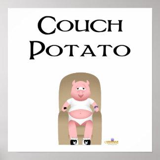 Couch Potato Pig Couch Potato Print