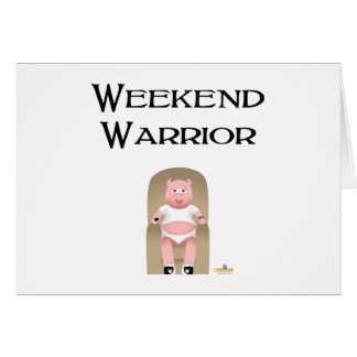 Couch Potato Pig Weekend Warrior Greeting Card