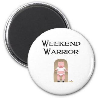 Couch Potato Pig Weekend Warrior Fridge Magnets
