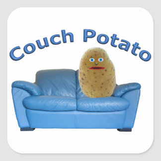 Couch Potato Square Sticker