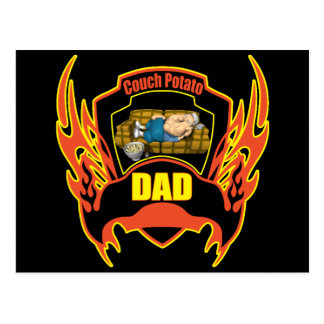Couch Potato T-shirts and Gifts For Dad Postcard