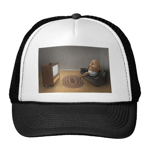 Couch Potato Watching T.V. Trucker Hat