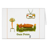 Couch Potato with border Greeting Cards