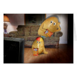 Couch Potatoes Father & Son Greeting Card