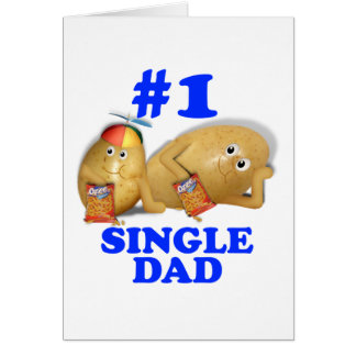 Couch Potatoes Father & Son - Single Dad Greeting Cards