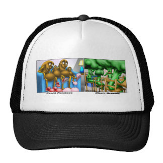Couch Potatoes Funny Gifts Tees & Collectibles Trucker Hat