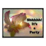 """couché du soleil Floral  Surprise party invite 5"""" X 7"""" Invitation Card"""