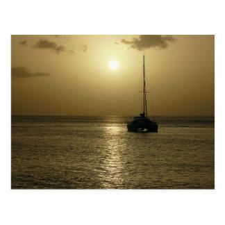 Coucher de Soleil (puesta del sol) - Martinica, Tarjeta Postal