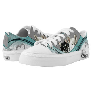 CouchPetatoArt Digitally Painted Designs Pomsky Low-Top Sneakers