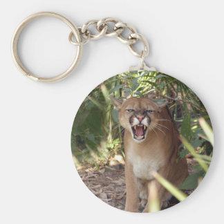 Cougar 001 basic round button keychain