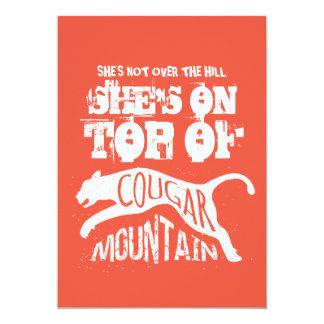 Cougar 50th Birthday Invitation Over the Hill