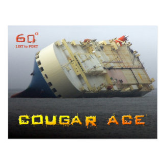 Cougar Ace listing at 60º, Aleutian Islands Postcard