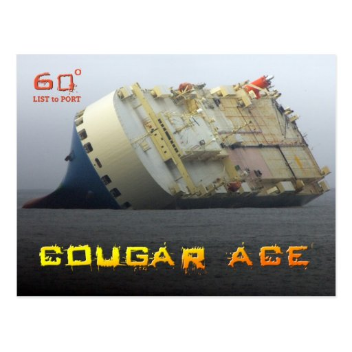 Cougar Ace listing at 60º, Aleutian Islands Post Card