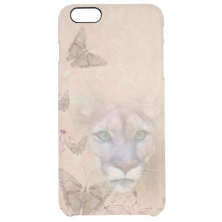 Cougar and Butterflies Clear iPhone 6 Plus Case