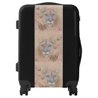 Cougar and Butterflies Luggage