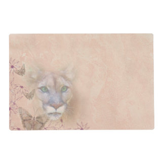 Cougar and Butterflies Placemat