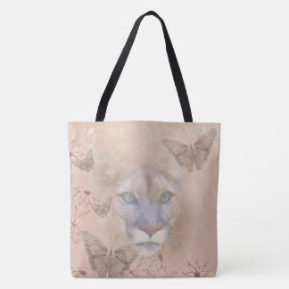 Cougar and Butterflies Tote Bag