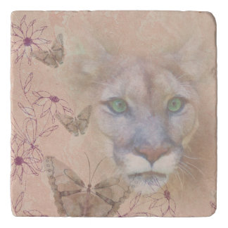 Cougar and Butterflies Trivets