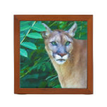Cougar and Lion Reversible Pencil Holder