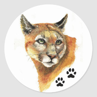 Cougar Animal Sticker