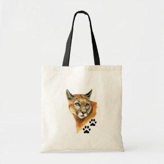 Cougar Animal Tote Bag bag