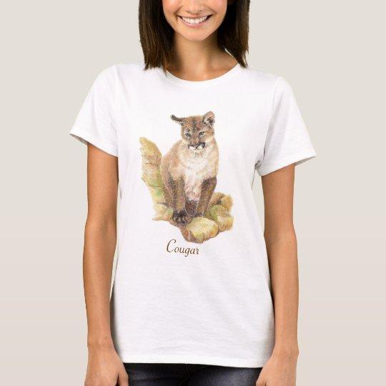 Cougar Animal Totem T-Shirt