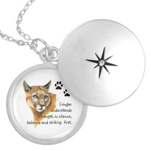 Cougar Animal Totems, Encouragment and Inspiration Pendant