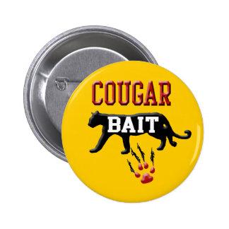 cougar bait 2 inch round button