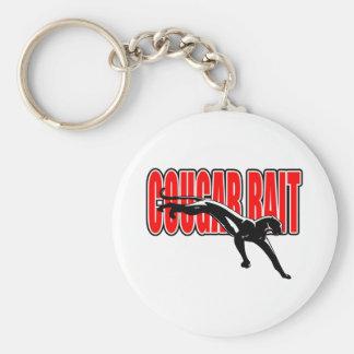 Cougar Bait. Fun design. Don't take it seriously. Key Chain