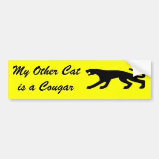Cougar Cat Bumper Stickers