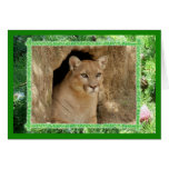 Cougar Christmas Greeting Card